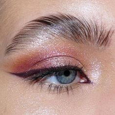Cute Makeup Looks, Makeup Eye Looks, Eyeliner Looks, Eye Makeup Art, Kiss Makeup, Pretty Makeup, Eyeshadow Makeup, Simple Makeup, Beauty Makeup
