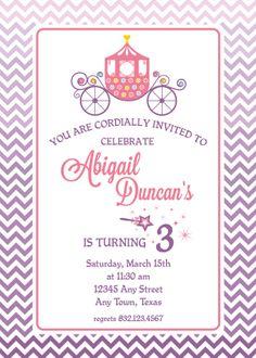 Princess Pink and Purple Birthday Invitation by TULIPinvites, $15.00