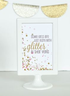 Free cue the confetti party printable for baby shower by Grace & Guy Paperie for Livethefancylife.com- would be cute just for a little girls' room
