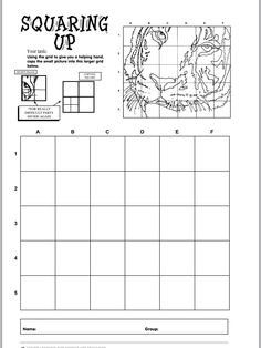 Scale grid drawing worksheets