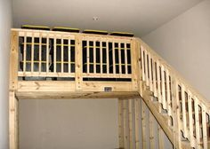 Lofted Garage Storage with Stairs
