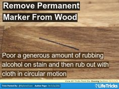 Cleaning - How To Remove Permanent Marker From Wood