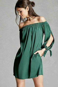 Simple green summer dress... Ylime xxx