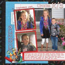 Back to School 12x12 Layout Templates