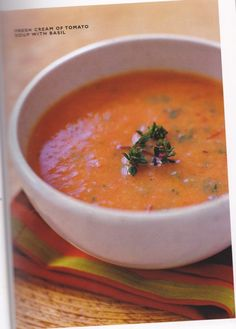 healthy tomato soup- this soup is only 125 calories per serving and was pretty darn good. Will be making again.