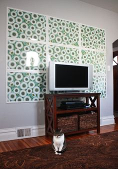 Do you have a room that needs an easy and awesome wrapping paper statement wall?