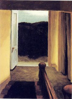Edward Hopper - Stairway, 1949 Whitney Museum of American Art American Realism, American Artists, Manet, Edouard Vuillard, Edward Hopper Paintings, John Singer Sargent, Whitney Museum, Oil Painting Reproductions, Contemporary Paintings