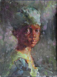 Patience by Michael Maczuga Oil ~ 12 x 9 African American Art, African Art, Figurative Kunst, Black Artwork, Black Women Art, Oeuvre D'art, Art Pictures, Female Art, Creative Art