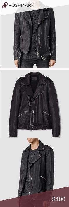 All Saints Kahawa Motorcycle Jacket XS Slim fit Motorcycle Jacket. 💯 % Sheepskin leather. ALL SAINTS. Awesome option for those looking for a slim fit, upscale leather motorcycle jacket. All Saints Jackets & Coats