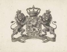 Henricus Wilhelmus Couwenberg   Wapen van Nederland met motto: Je Maintiendrai, Henricus Wilhelmus Couwenberg, 1830 - 1845  