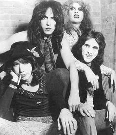 """When KISS first formed, their """"look"""" was more """"New York Dolls"""" than anything. They would switch to the famous """"Kabuki"""" style facepaint soon after!"""