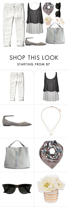 """Odjednom mojim je mukama dosao kraj, sada u tvojim sam rukama..."" by hancicaf on Polyvore featuring Abercrombie & Fitch, Great Plains, Jimmy Choo, Topshop, Maison Margiela, Burberry and Ray-Ban"