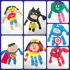 Superhero handprint kids planning to do this cute super hero art project with my baby nephews next time they visit. superhero hand art canvas family paint by marylou Superhero Art Projects, Projects For Kids, Crafts For Kids, Arts And Crafts, Food Art For Kids, Toddler Crafts, Hero Arts, You Are My Superhero, Superhero Kids