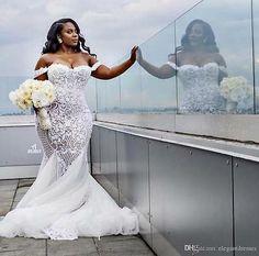 Modest Sexy Mermaid Wedding Dresses Lace Applique Trumpet Bridal Gowns Off Shoulder Beach Plus Size Wedding Dress Plus Size Wedding Gowns, Modest Wedding Dresses, Cheap Wedding Dress, Bridal Dresses, Beach Dresses, Wrap Dresses, Fall Dresses, Lounge Dresses, Summer Dresses