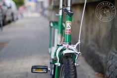 An old Balkan (a Bulgarian bike from the Soviet times) restored to its shiny original look.