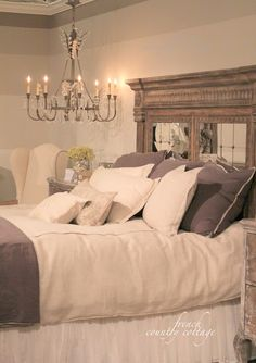 FRENCH COUNTRY COTTAGE: Love this headboard