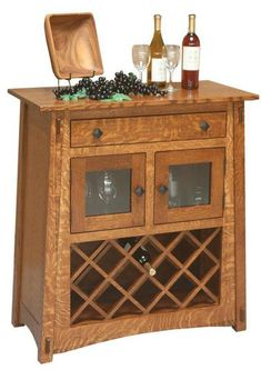 Amish McCoy Wine Server Exquisite wine server made with solid wood. Handcrafted in Amish country. Matches your decor with choice of wood and stain.