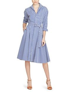 Polo Ralph Lauren Striped Cotton Shirtdress - Polo Ralph Lauren Shop All - Ralph Lauren UK
