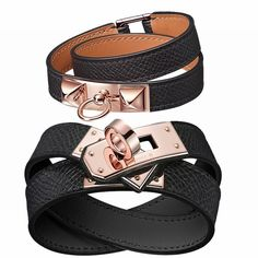 Hermes Rivale Double Tour Bracelet Rose Gold Just sharing! Another birthday  present from today ( b50f0c96281
