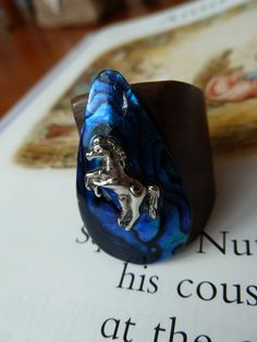 Horse wooden ring £8.00