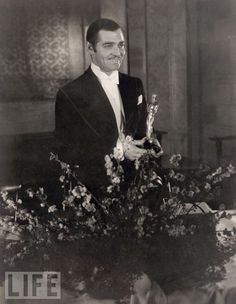 """King of Hollywood Clark Gable Wins Best Actor Oscar - At the 1935 Oscars, Gable is part of the historic sweep for """"It Happened One Night"""" (Best Picture, Actor, Actress, Director, and Screenplay), a feat unequaled until 1975's """"One Flew Over the Cuckoo's Nest."""""""