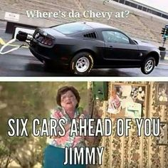 Every time at the track against a Chevy Camaro Vs Mustang, Camaro Car, Chevrolet Camaro, Corvette, Chevy Jokes, Ford Jokes, Chevy Vs Ford, Chevy Trucks, Lifted Chevy