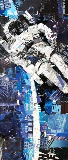 NEW! Art Prints: Collage Art by Derek Gores more at www.derekgores.com #collage #recycle  http://derekgores.com/art-prints