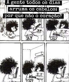 Mafalda asks her comb: are you nervous? Mafalda Comic, Funny Cute, Hilarious, Mafalda Quotes, Humor Grafico, Hair Raising, Calvin And Hobbes, Me Too Meme, Cute Drawings