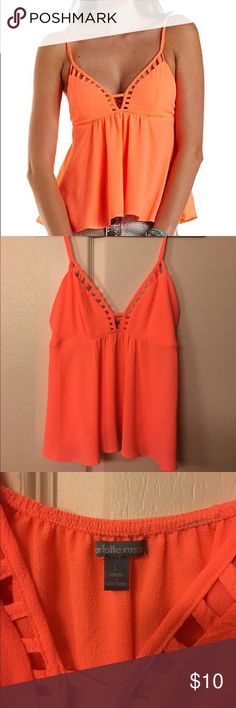 Charlotte Russe Cut-Out Swing Tank Charlotte Russe Cut-Out Swing Tank ☀️ Charlotte Russe Tops Tank Tops
