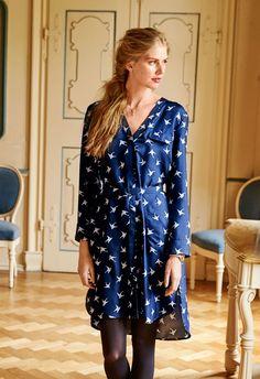 Платье-рубашка - выкройка № 121 В из журнала 12/2015 Burda – выкройки платьев на Burdastyle.ru