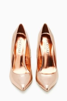 Shoe Cult Luxe Pump - Rose Gold