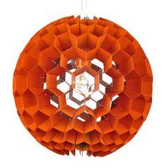 genon globe pendant orange, moe's home collection