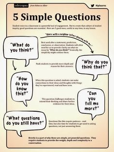5 Simple Questions for Student Inquiry
