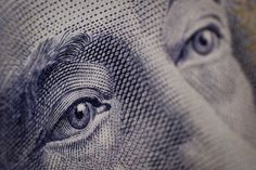 US Currency, close up