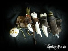 Having kit and holsters for ritual components and the like is very important.  LARP costumeLARP weapon: Goblin stuff » LARP costume