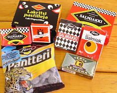 Finnish liquorice, best in the world. Especially the salty-sweet type, salmiakki, salt liquorice (also known as salmiak or salmiac). It's strong, salty and SO GOOD! And the Finns make it best :-D