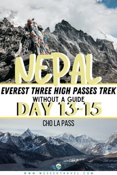 These next three days of the Everest Three High Passes Trek crosses over the Cho La Pass and finishes in my favorite Khumbu village; Gokyo. #EVEREST #HIKING #NEPAL