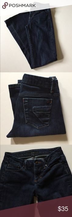 "Joe's Jeans Muse Stretch Boot Cut Jeans Excellent condition. Low rise boot cut. Stretch. Dark wash-Jett. Some fraying at hems. Size 25. 98% cotton, 2% elastan. Waist about 27"", rise about 7.75"", inseam about 33"". Not from a smoke free house. 418 Joe's Jeans Jeans Boot Cut"