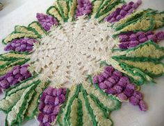 crochet grape clusters doilie from rustycharm