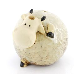 """5"""" Tall Homesweeter Ceramic Home Decor Milk Cow Piggy Bank,free Shipping. Adorable ceramic milk cow coin bank. Meaures 5"""" tall,4.6"""" wide. Teach and learn saving. Add to nursery or kids room. Great kid's room decoration."""