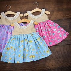 All the girls in one of these? I wish they had one more color.  Shabby Chic Dress, Spring Easter ,Floral dress Flowergirl, Dainty, Alice, Rustic,Tea Party, beach, girls, Size 12/18 months 2t 3t 4t 5 6 7/8