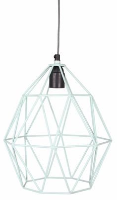 hanglamp wire mint super leuk op de baby of kinderkamer, voor jongen of meisje, we love mint!