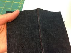 An excellent tutorial on two very unusual ways to sew a flat fell seam. Both versions result in a seam that is symettrical rather than pushed to one side - perfect for the seat seam on jeans! Tutorial by Notes From a Mad Housewife. Sewing Men, Sewing Tools, Sewing Tutorials, Sewing Projects, Flat Felled Seam, Sewing Techniques, Step By Step Instructions, Refashion, Jeans Pants