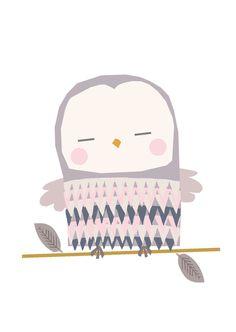 Vicky Riley 'Postcard Owl'