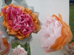 Tissue Paper Flowers - Click image to find more hot Pinterest pins