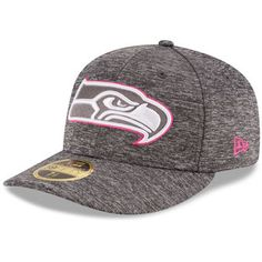 e410a10edd2 Men s Seattle Seahawks New Era Heather Gray 2016 Breast Cancer Awareness  Sideline Official Low Profile 59FIFTY Fitted Hat
