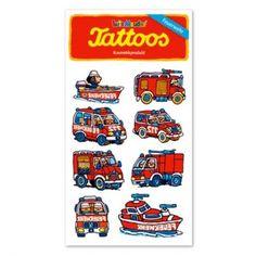 Kindergeburtstag Feuerwehr Tattoos, Feuerwehrfahrzeuge