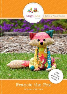 Patchwork Fox Softie PDF Sewing Pattern. ~ Introducing Francie Fox... my latest sewing pattern. Make your very own Francie the Fox with this