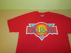 Vntg 1991 NF AFC   NFL PRO BOWL  T Shirt Sz L Large  - Red - Hawaii  #Hanes