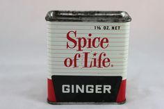 Vintage Siice Of Life Ginger Spice Tin